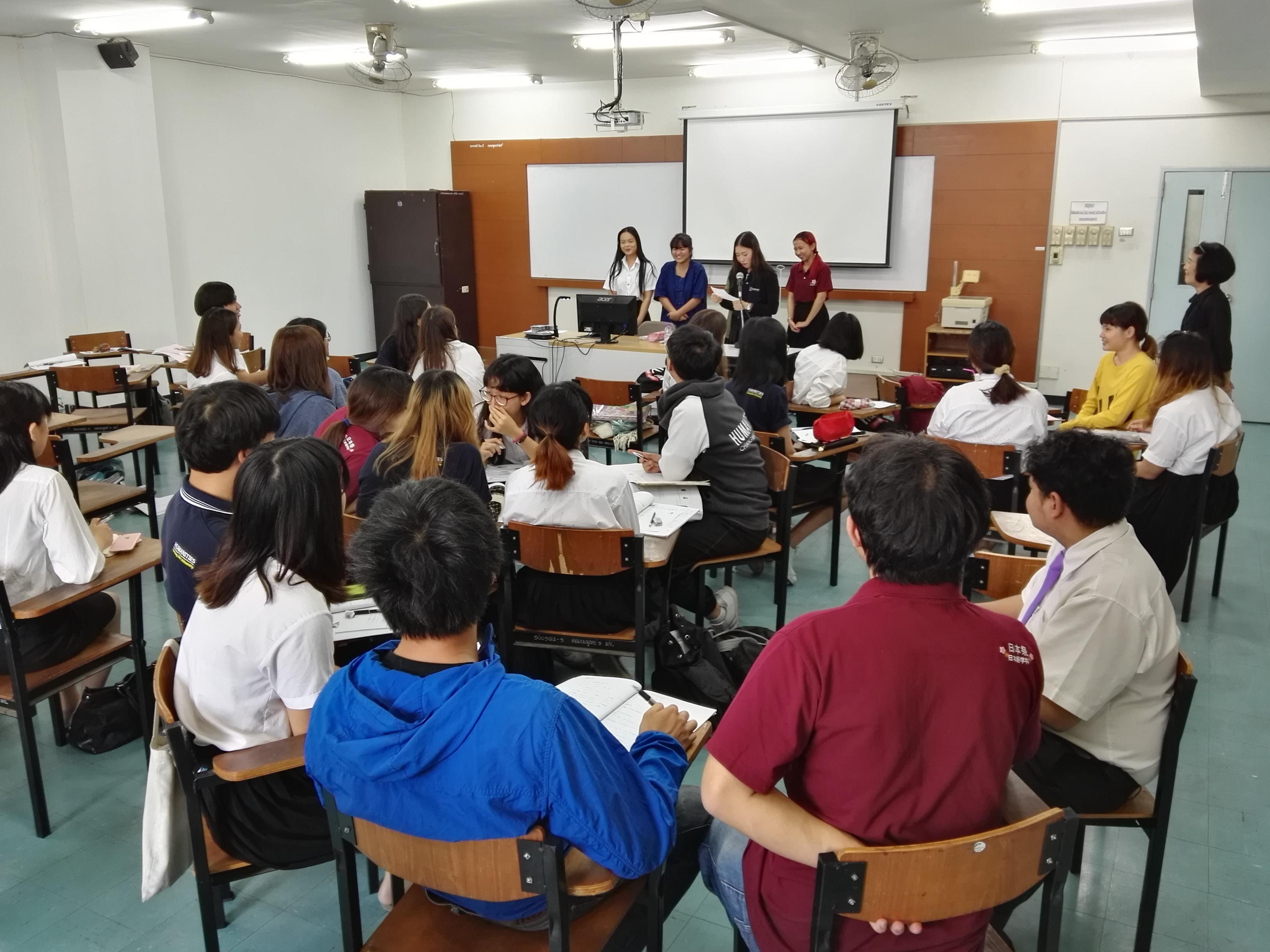 日本語授業視察風景